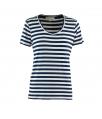 t-shirt korte mouwen streep marine
