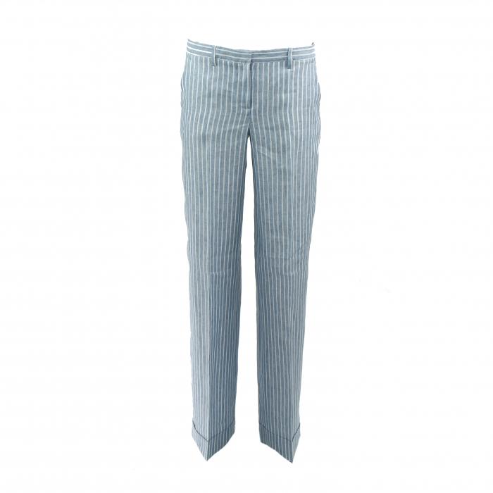 broek gestreept blauw/wit