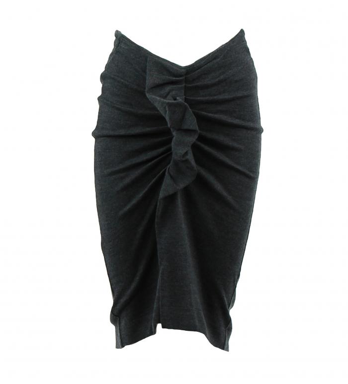 rok drapage grijs