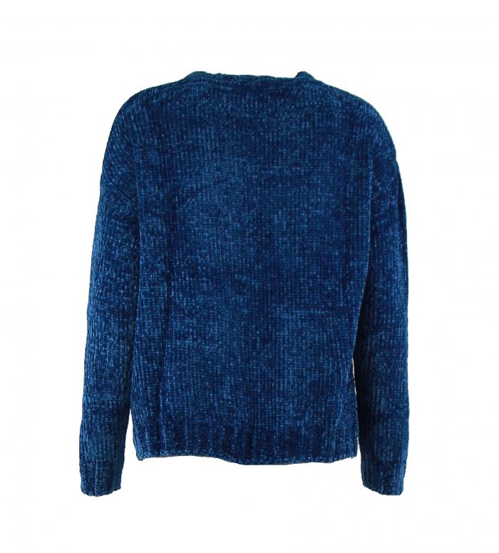 pull velours blauw