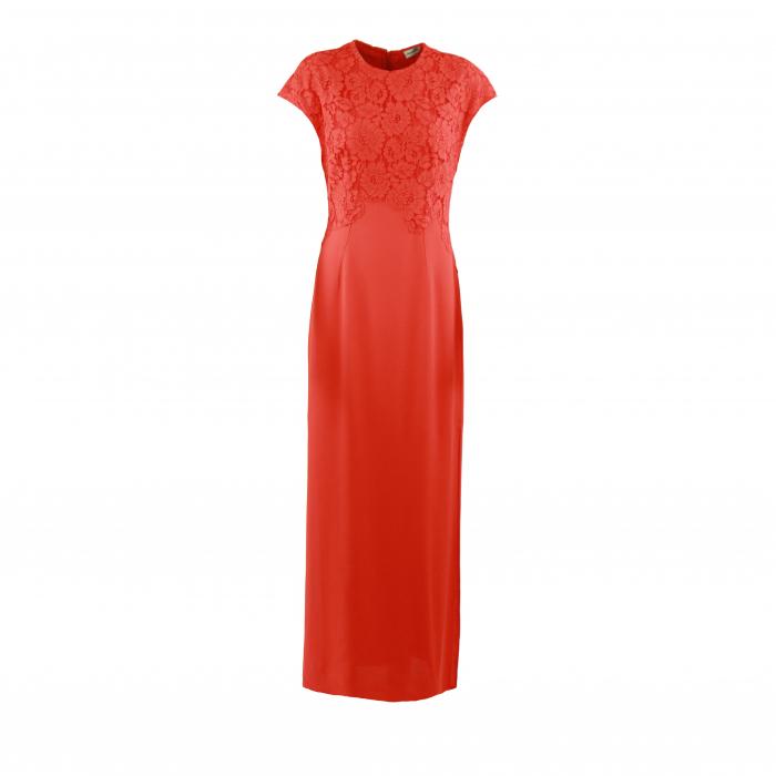 kleed lang kant oranje
