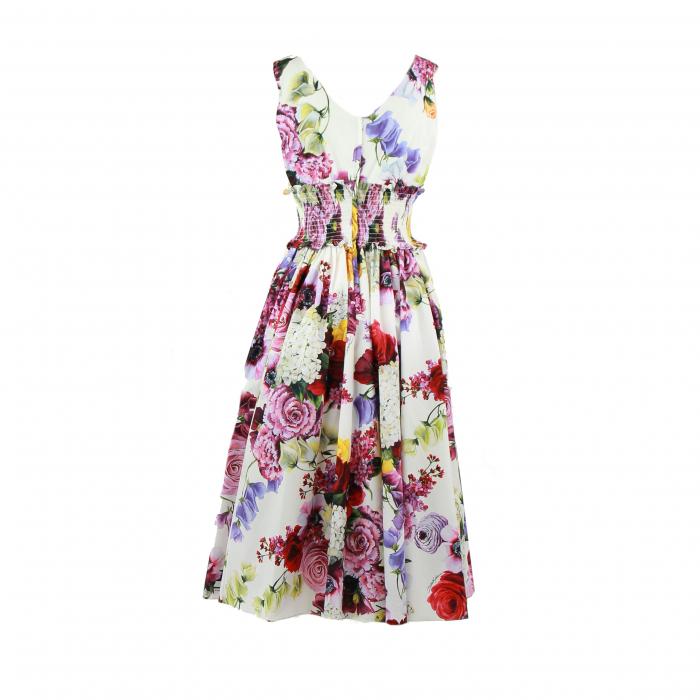 kleed zonder mouwen katoen bloem wit