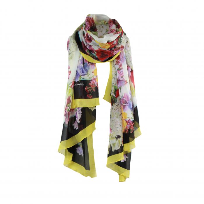 sjaal frippe bloem multicolor