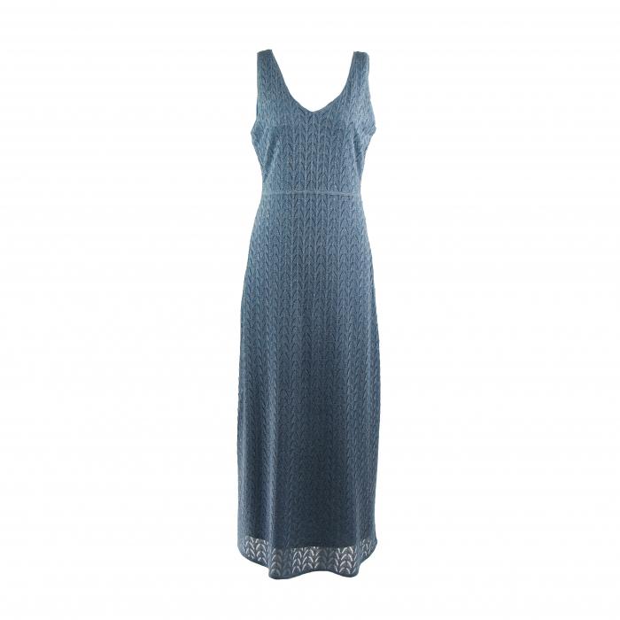 kleed lang zigzag lurex lichtblauw