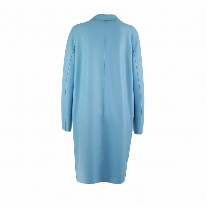 mantel wool l blauw