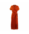 kleed linnen wikkel terracotta