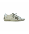 sneaker ster wit/ecru/zilver