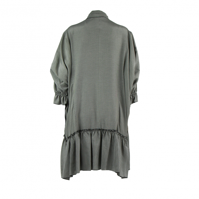 kleed oversized zwart/ecru