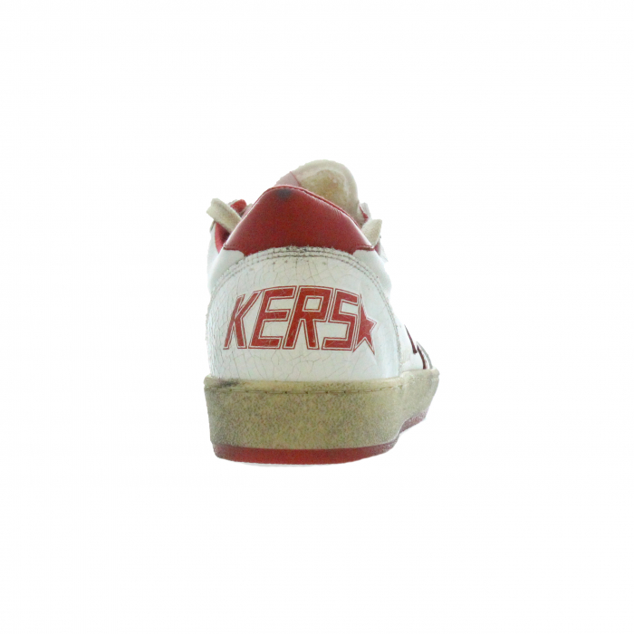 sneaker ster wit/rood