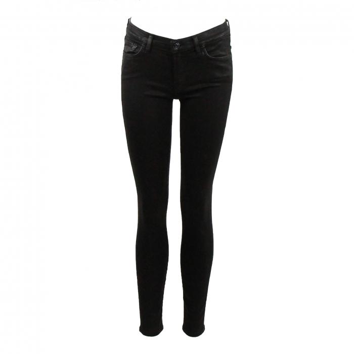 zwarte skinny jeans lederlook