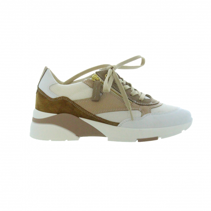 sneaker wit/poeder