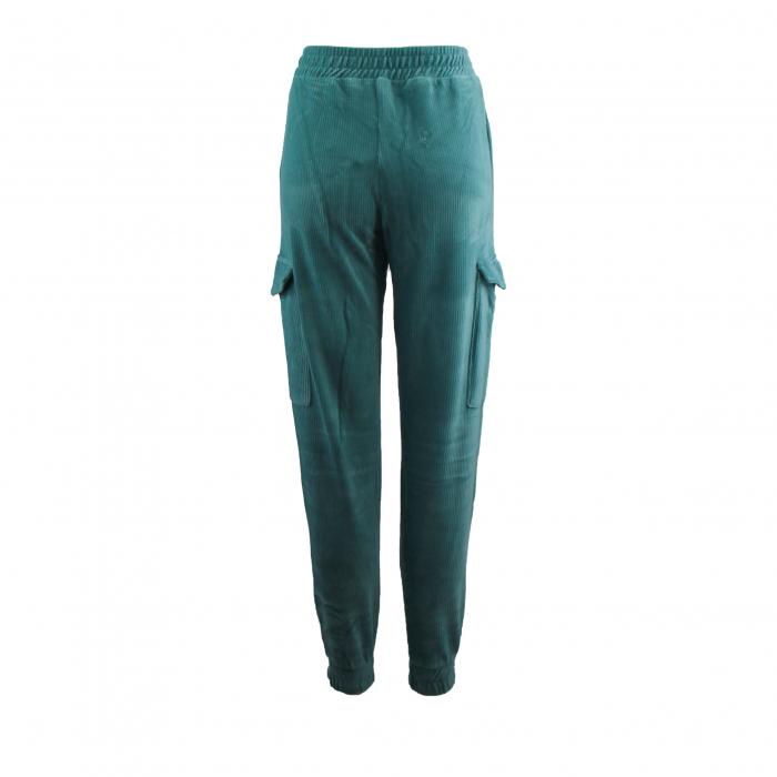 broek ribbelfluweel l turquoise