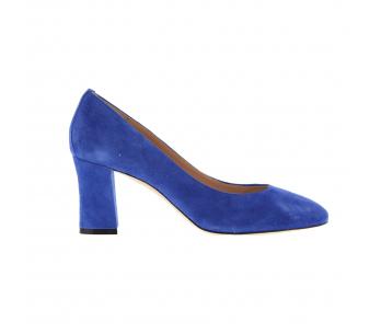 Schoen daim 7cm bicblauw